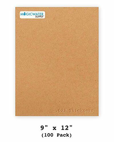 22pt Light Weight Brown Kraft Cardboard 100 Sheets Chipboard 9 x 12 inch