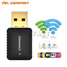 600Mbps Dual Band 2.4G 5GHz USB Wireless WiFi 802.11AC Adapter Network Dongle US