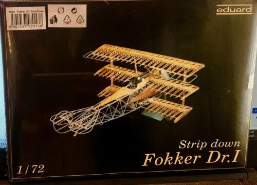 Fokker Dr.1 -Tri-Plane 1//72 Scale Eduard Strip Down Factory Sealed NEW