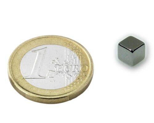 Würfelmagnet  7 x 7 x 7mm Neodym N42 10 x Magnetwürfel Nickel hält 3kg