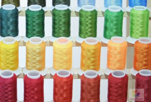 Premium 100 Polyester Embroidery Thread Spools 550 yards