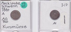 1/48 Taler Silber Münze Mecklenburg-schwerin 1860 A Münzen 121105