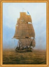 Segelschiff im Nebel Marinemalerei Romantik LW Caspar David Friedrich A2 056