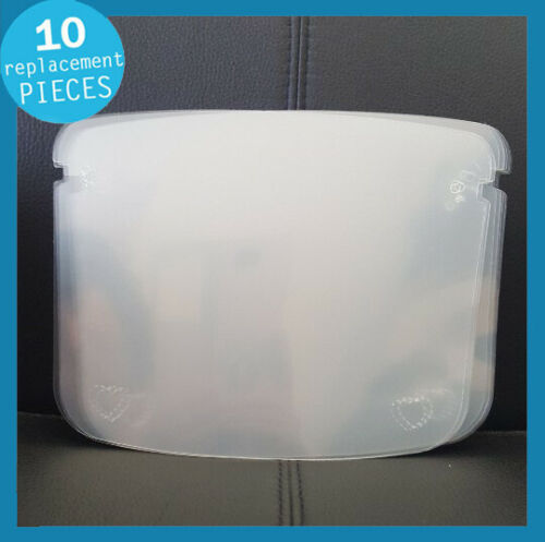10 Replacement Safety Full Face Shield Guard Protector Clear Reusable Helmet US