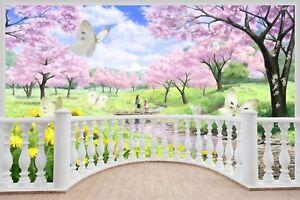 Huge-3D-Balcony-Fairy-Tale-Fantasy-Meadow-Wall-Stickers-Wallpaper-535
