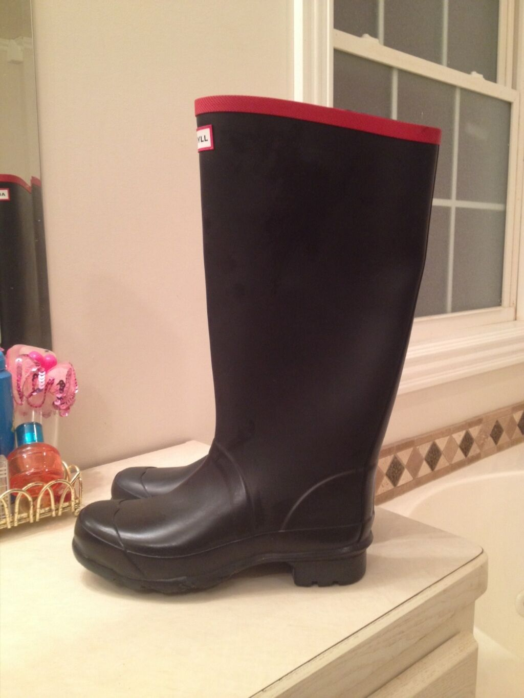 Nwd Hunter Hunter Hunter Argyll BLACK Rainboots Womens 10 42 Rubber Wellies Rain Boots 680c32