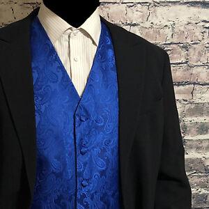 BROWN XS to 6XL Paisley Tuxedo Suit Dress Vest Waistcoat /& Neck tie Wedding