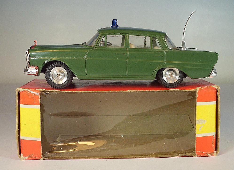 Gama Mini-Mod 1 47 MERCEDES BENZ 220 S Limousine Police vert neuf dans sa boîte  6387