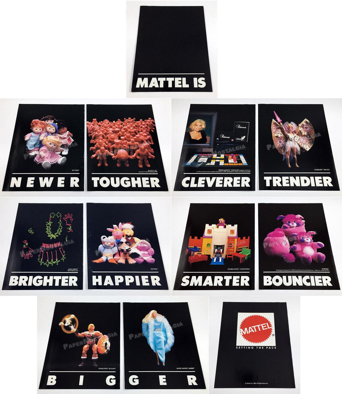 MATTEL__Orig 1986 Trade promo__HE-MAN_Sternburst She-Ra_MUSCLE_Magic Moves Barbie