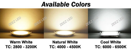 """20W 9/"""" Round Cool White LED Recessed Ceiling Panel Down Light Bulb Lamp Fixture"""