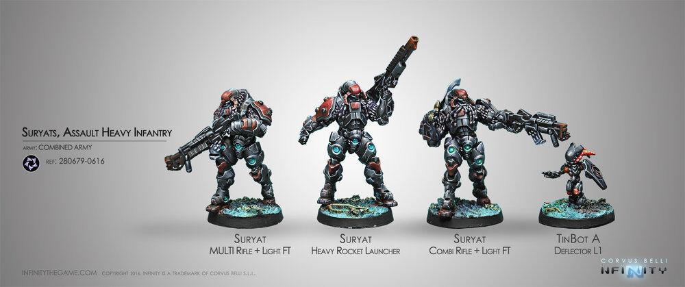 Infinity Miniatures-Figuras Y Y Y Modelos De Ejército Combinado - - varios - 28mm 42539c