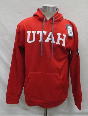 """Utah Utes NCAA /""""Zone II/"""" Pullover Hooded Men/'s Sweatshirt Red"""