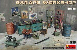 MiniArt-Garage-Workshop-Werkstatteinrichtung-1-35-Bausatz-Model-Kit-35596