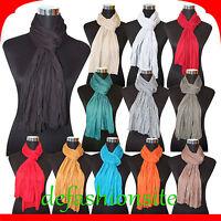 Neu XL Schal Damen Herren Crinkle Tuch Halstuch UNISEX tolle Farben Knitterschal