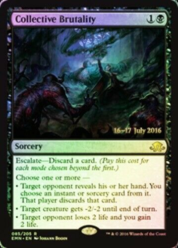 1x Collective Brutality - Foil - Prerelease Promo NM-Mint, English Pre-Release P