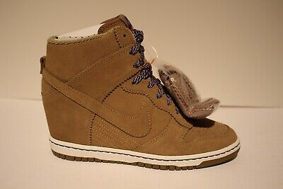Nike Dunk Sky High Essential Women's Bamboo Suede Hidden Wedge w2 Laces | eBay