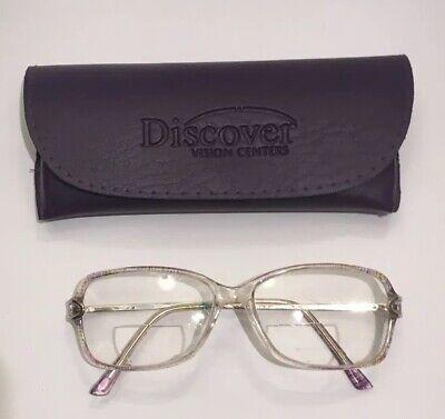 Club LA 6300 Eccentric Vintage Rectangular Metal Purple Bronze Eyeglasses France