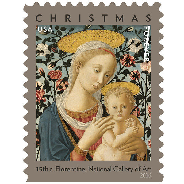 2016 47c Florentine Madonna & Christ Child, Painting Sc