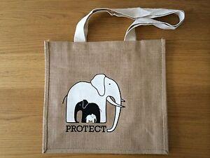 The-David-Sheldrick-Wildlife-Trust-039-PROTECT-039-Organic-Jute-Shopper-Tote-Bag