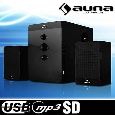 2.1 AKTIV HOME CINEMA LAUTSPRECHER SYSTEM USB SD MP3 DVD PLAYER HIFI BOXEN SET