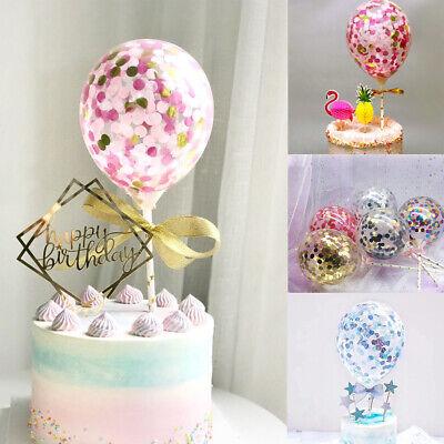 Confetti Foil Balloons 5/'/' Party Birthday Wedding Cake Home Decor Set Best