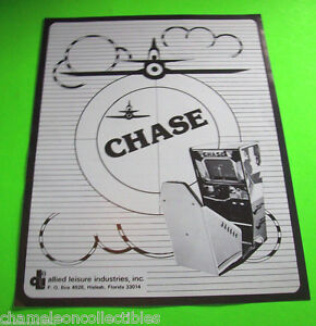 CHASE-By-ALLIED-1976-ORIGINAL-NOS-VIDEO-ARCADE-GAME-PROMO-SALES-FLYER