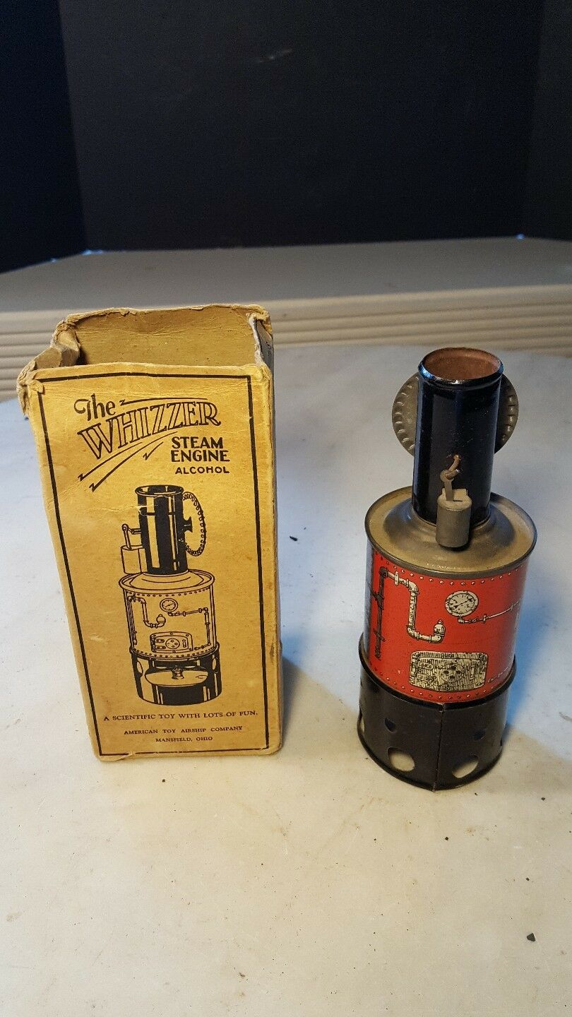 Antique The Whizzer Steam Engine Toy American Airship Co. Mansfield, Ohio