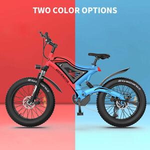 GLW Electric Bike 500W 48V SAMSUNG battery 20*4 inch Fat Tire Red&Blue S18-Mini