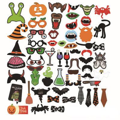 40 Piece Halloween Photo Props Mouth Magic Hat Pumpkin Batman Masks Funny Party