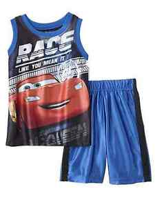 f3521bb3e28ba Image is loading Disney-Toddler-Boys-Cars-Lightning-McQueen-Baby-Outfit-