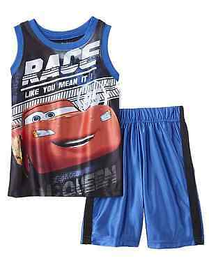 Baby Boys Outfit 0-3m mo months 3 pc Set Disney Cars Lightning McQueen Vest NWT