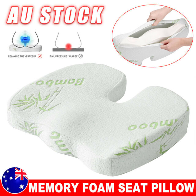Bamboo Memory Foam Seat Cushion Coccyx Support Orthopedic Office Home Chair Pads