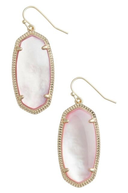 bb76954e4 Kendra Scott Elle Blush Mother-of-pearl 14k Gold Plated Oval Dangle ...