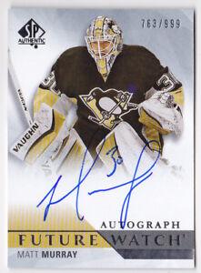 15-16-SP-Authentic-Matt-Murray-999-Auto-Rookie-Future-Watch-Penguins-2015