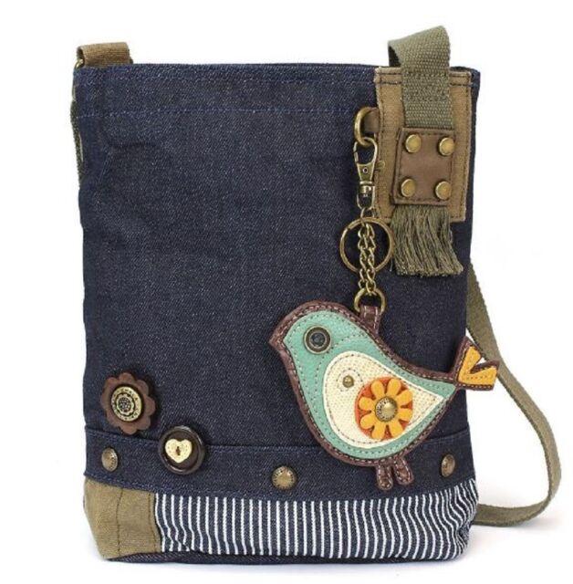 Chala Purse Handbag Denim Canvas Crossbody With Key Chain Tote Baby Biddle  Bird 642d1e95af70c