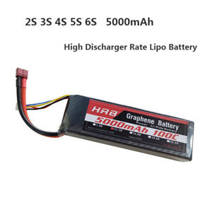 HRB-2S-3S-4S-5S-6S-5000mAh-100C-200C-Graphene-High-Discharger-Rate-LiPo-Battery