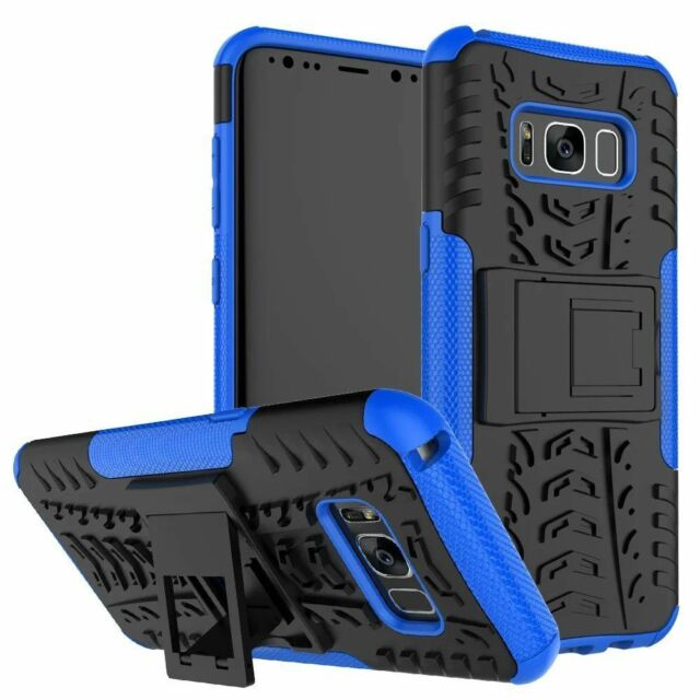 Samsung Galaxy S8/S8 Plus Hybrid Armor Shockproof KickStand Hard Case Cover