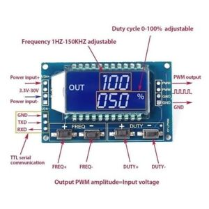 Signal-Generator-PWM-Pulse-Frequency-Duty-Cycle-Adjustable-Module-LCD-3-3V-30V