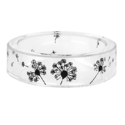 Dandelion Jewelry Women/'s Fashion Transparent Ring Gifts Ink Painting