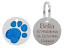 Personalised-Engraved-Round-Glitter-Paw-Print-Dog-Cat-Pet-ID-Tag-Small-Large thumbnail 3