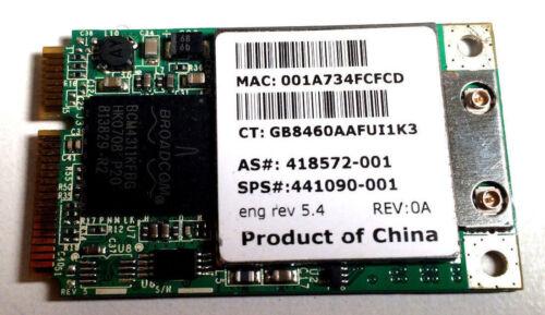 HP COMPAQ 441090 PRESARIO V6400 V6500 V6600 V6700 V6800 WIRELESS CARD WIFI MINI