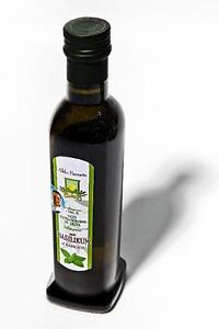 250ml-Natives-Olivenoel-Extra-Vergine-034-Basilikum-034-aus-eigener-Herstellung