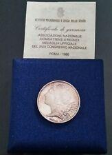 MEDAGLIA IPZS ASS. NAZIONALE COMBATTENTI REDUCI ROMA 1986 (7 gr ARGENTO 986) FDS
