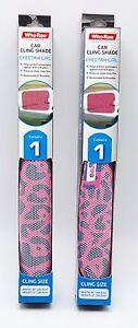 2-Car-Baby-Girl-Window-Shades-Pink-Cheetah-Print-16x12-inch-UV-Block-Protection