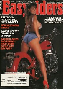 1992-November-Easyriders-Vintage-Motorcycle-Magazine-with-David-Mann-Poster
