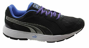 8297750ae7f3 Puma Descendant Womens Lace Up Black Running Shoes Trainers 186749 ...