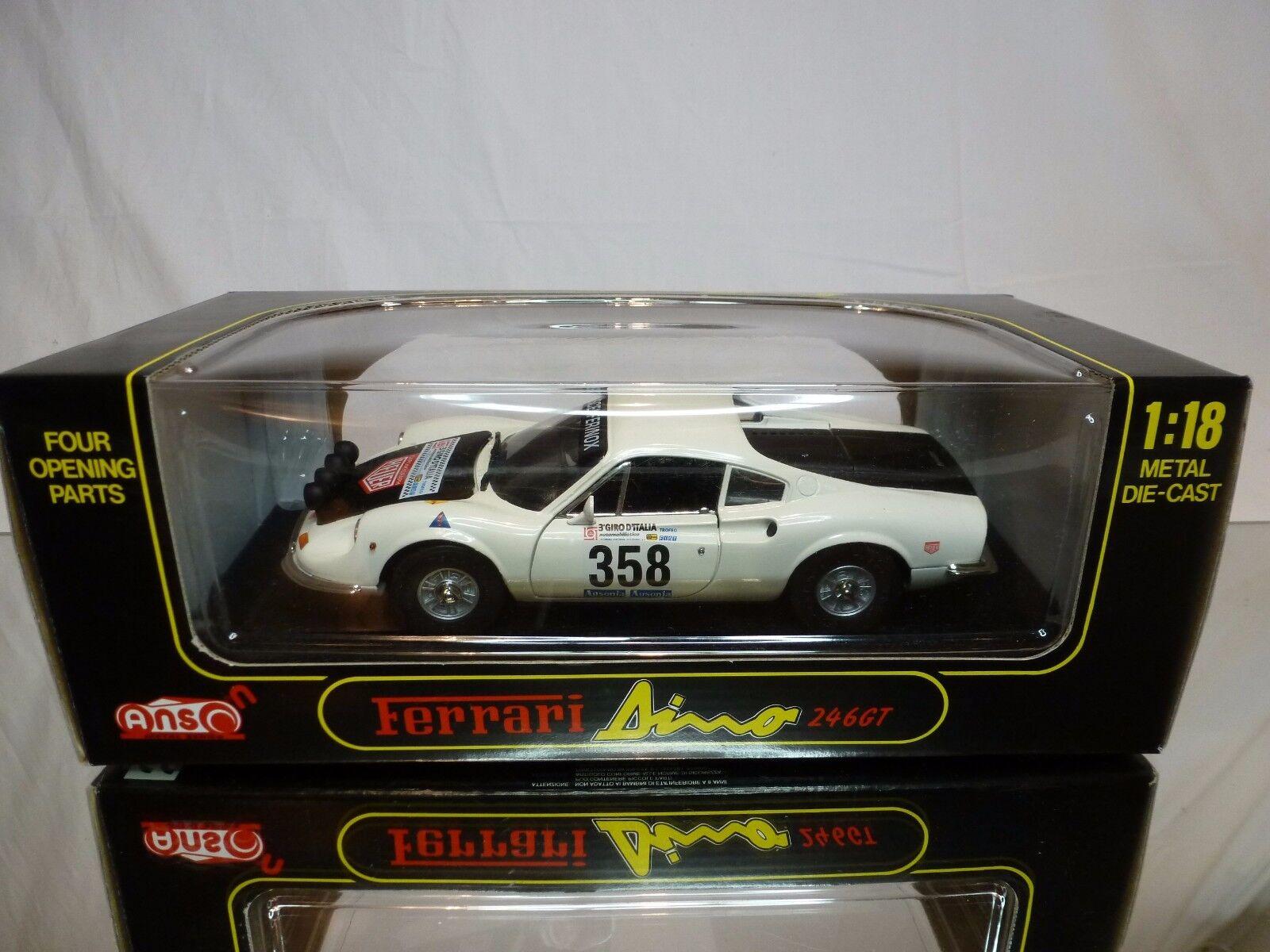 ANSON 30359 FERRARI DINO 246 GT - GIRO d'ITALIA  18 - EXCELLENT IN BOX