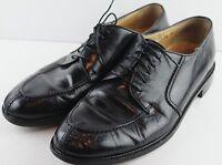Pronto Uomo Firenze Mens Black Leather Split Toe Oxford Dress Shoes 12M