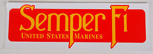 LOT-OF-10-SEMPER-FI-Bumper-Sticker-Vinyl-Decal-United-States-Marines-Corps
