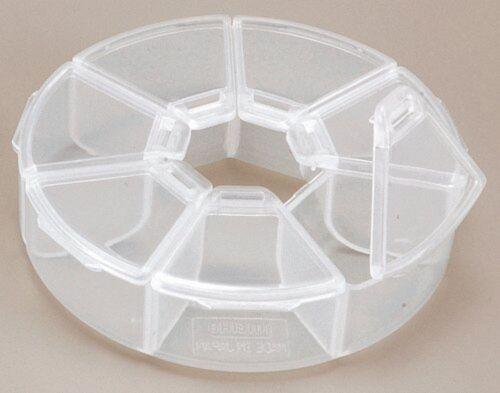 Meiho Rundverteiler PC-97 Wirbelbox Kleinteilebox 7 Fächer Angelbox Zubehör